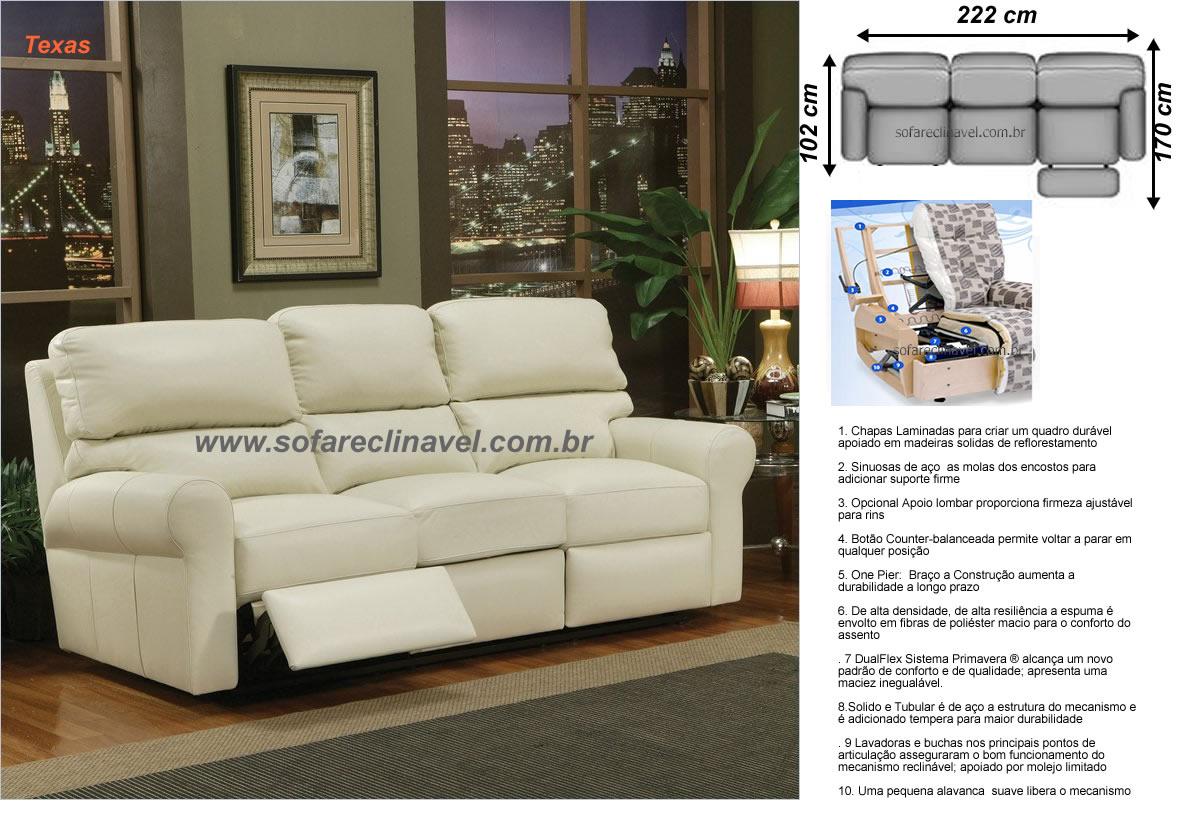 Tudo o que voc precisa saber sobre o sof reclin vel o - Medidas de sofas 3 2 ...